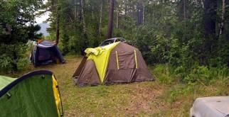 Отдых дикарем в палатках на Байкале